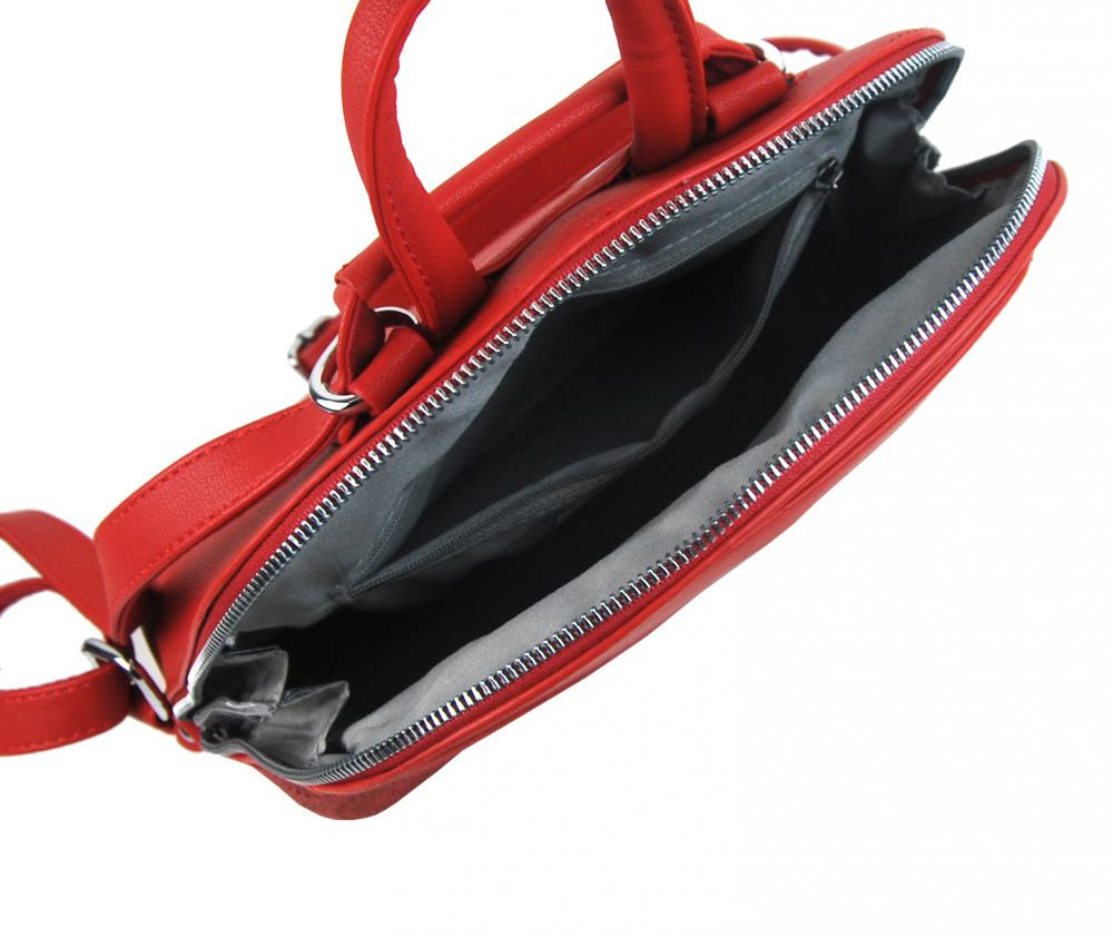 Červený elegantný dámsky batoh / kabelka 5234-TS