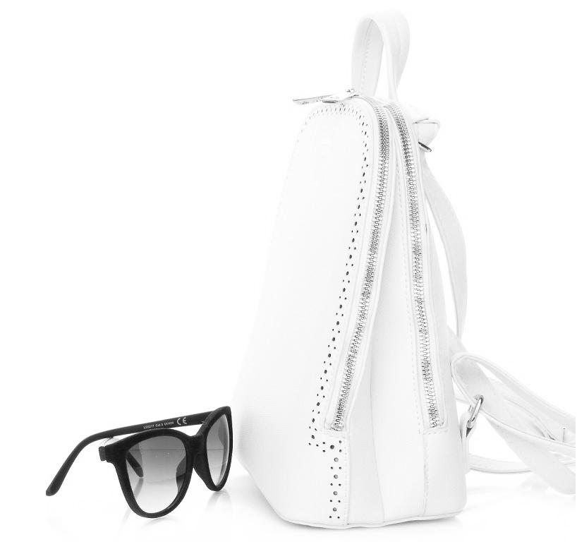 Biely dámsky batôžtek / kabelka s dvoma oddielmi