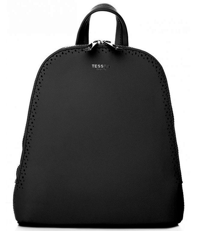 Černý dámský batůžek / kabelka se dvěma oddíly