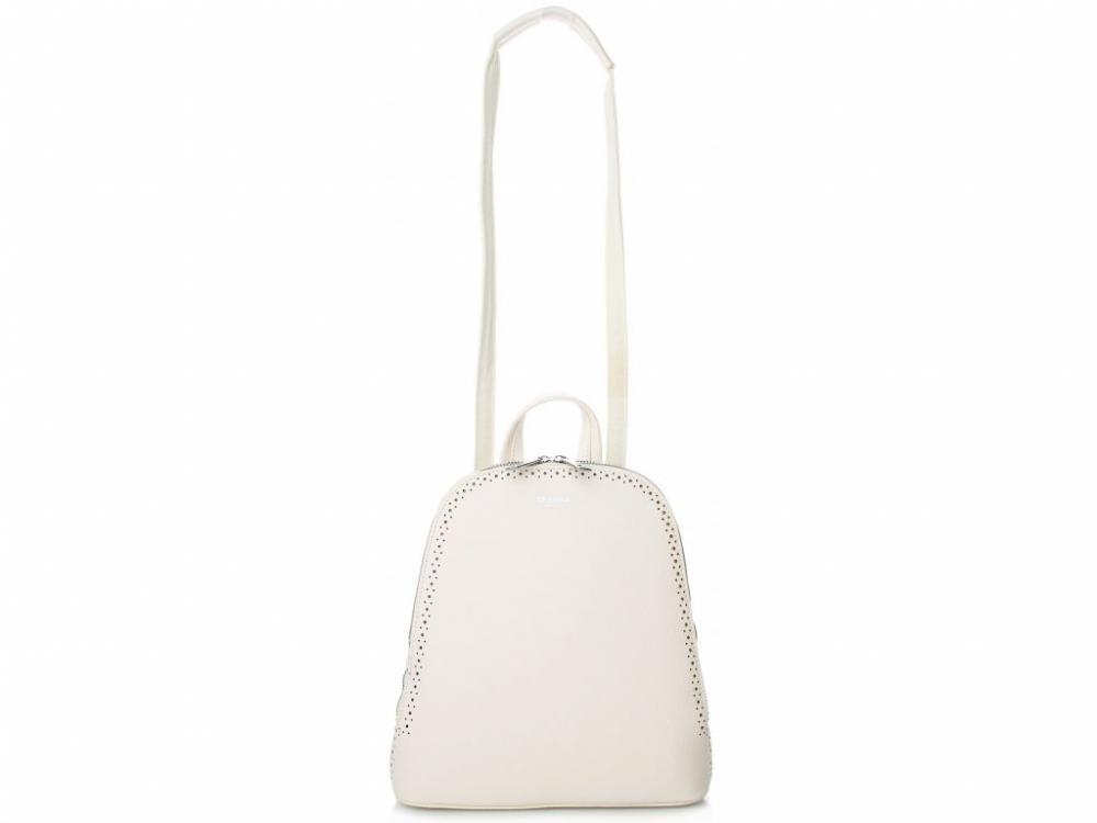Krémový dámský batůžek / kabelka se dvěma oddíly