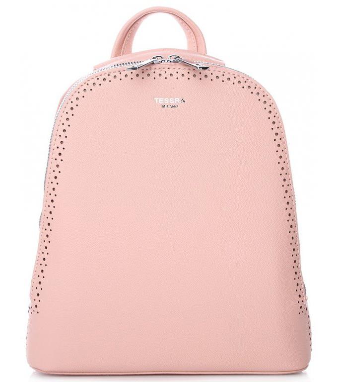 Růžový dámský batůžek / kabelka se dvěma oddíly