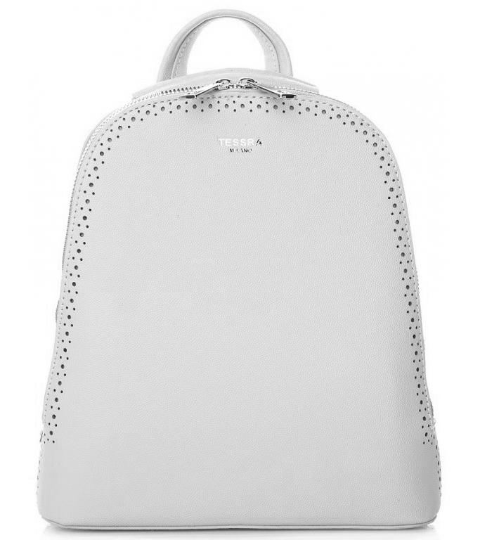 Světle šedý dámský batůžek / kabelka se dvěma oddíly