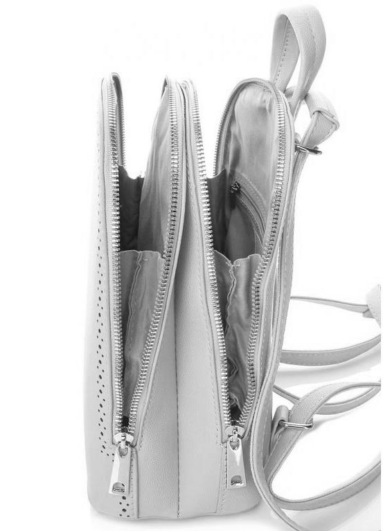 Svetlo šedý dámsky batôžtek / kabelka s dvoma oddielmi