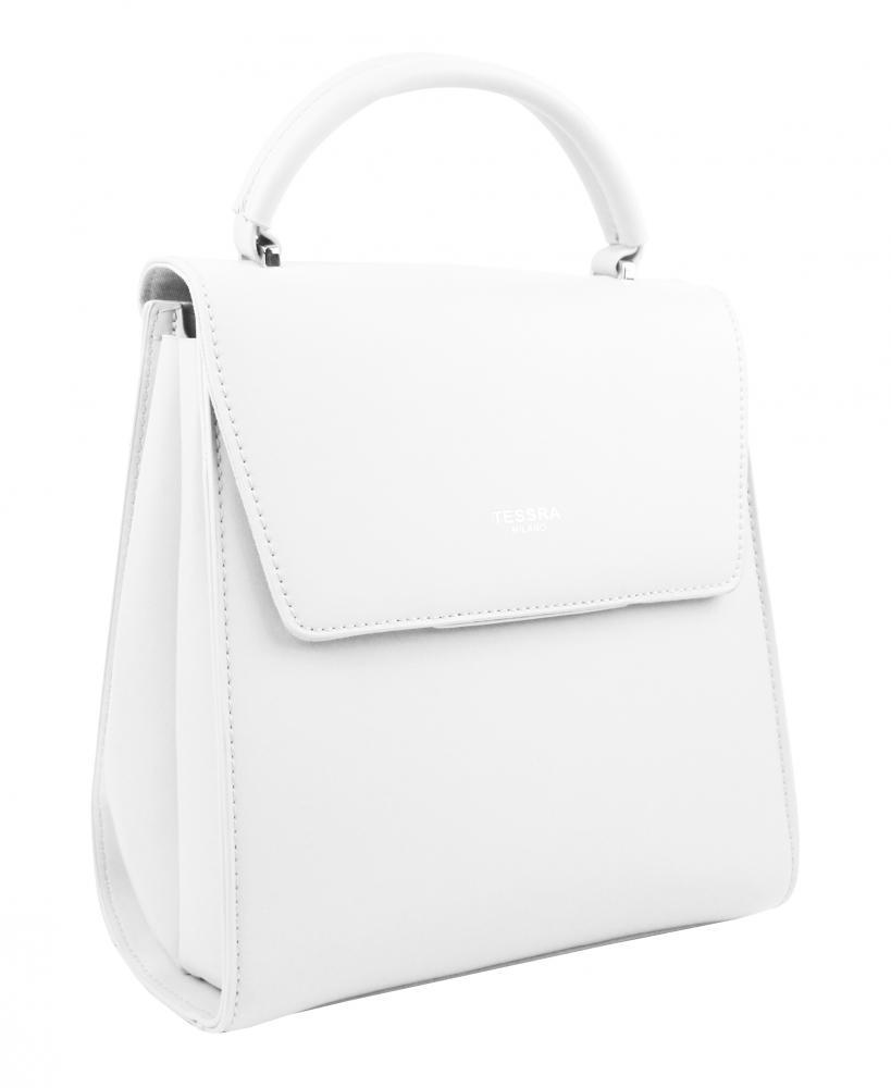TESSRA Bílý dámský trendy batoh 5520-TS