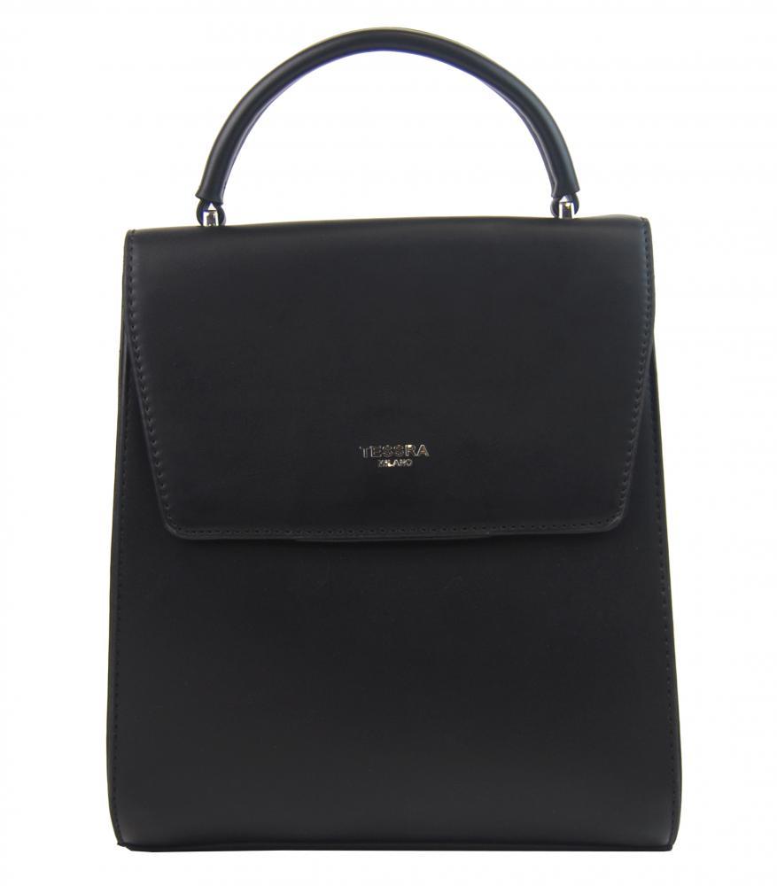 Černý dámský trendy batoh / kabelka 5520-TS