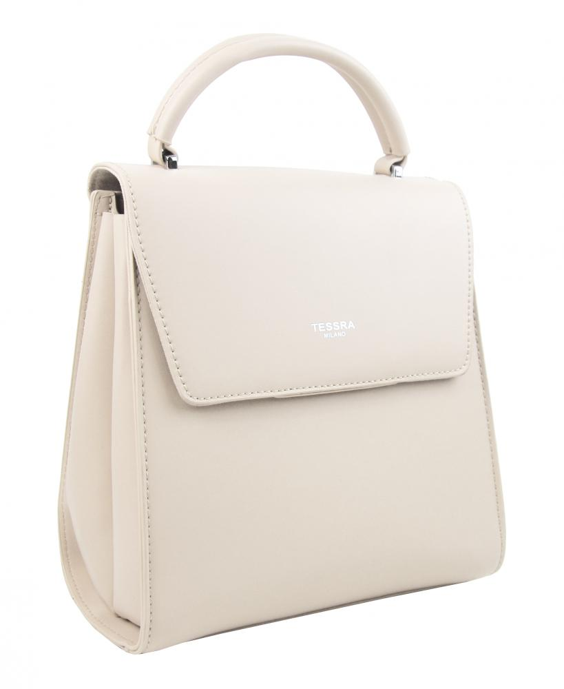 TESSRA Krémový dámský trendy batoh 5520-TS