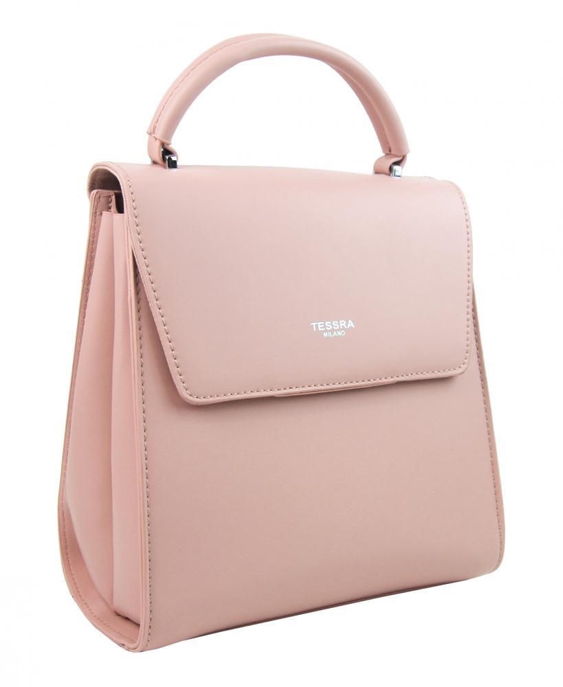 TESSRA Růžový dámský trendy batoh 5520-TS