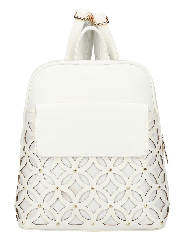 Smotanovo biely dámsky módny batôžtek v perforovanom dizajne AM0109