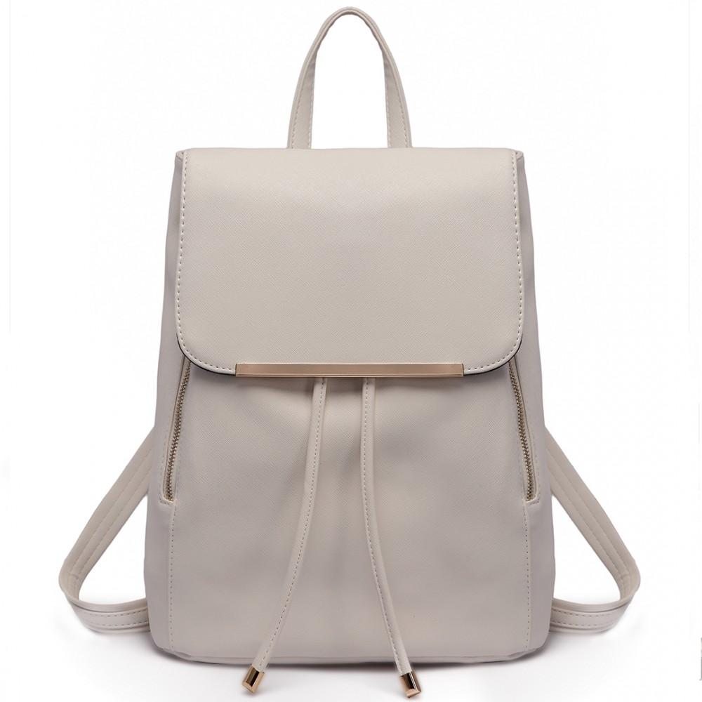 Štýlový dámsky módny ruksak E1669 svetlo sivý