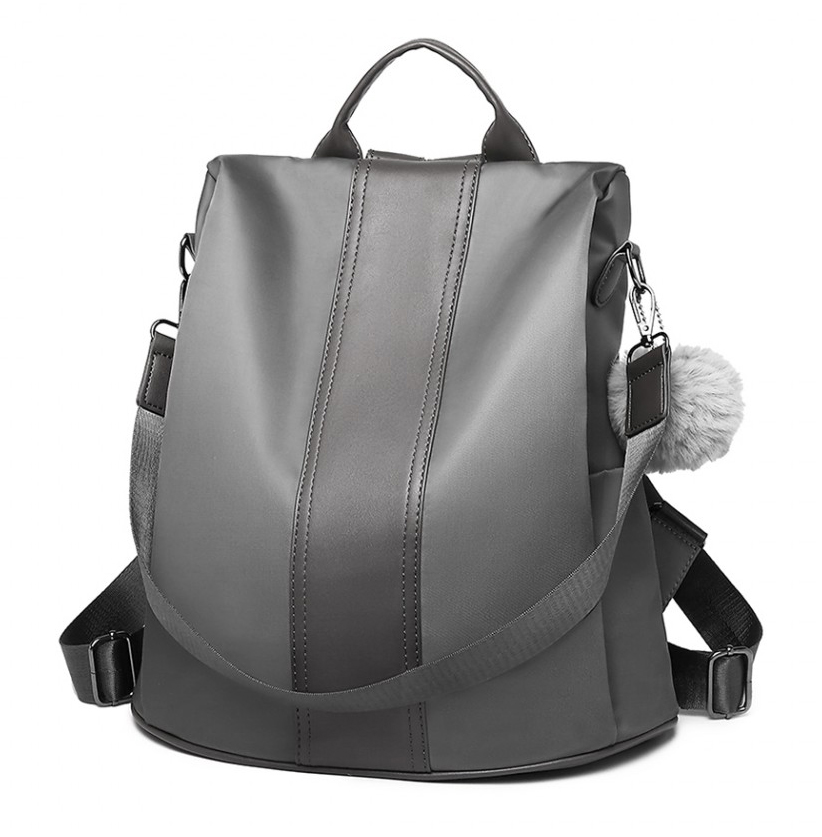 Šedý dámský batoh / kabelka přes rameno Miss Lulu