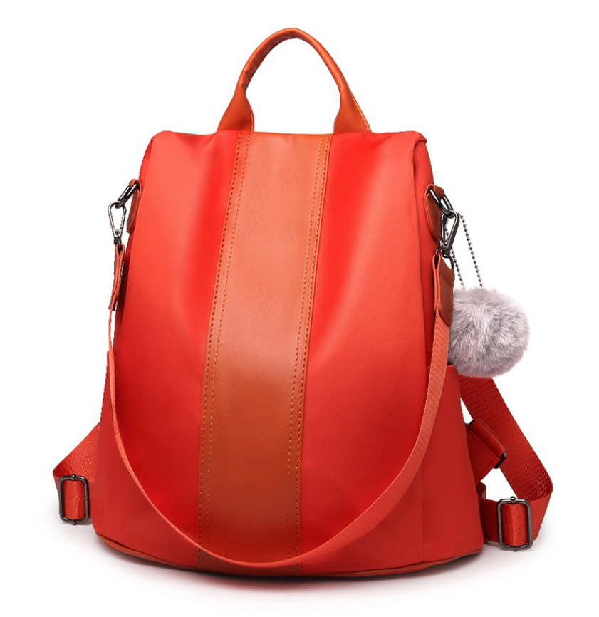 Oranžový dámský batoh / kabelka přes rameno Miss Lulu