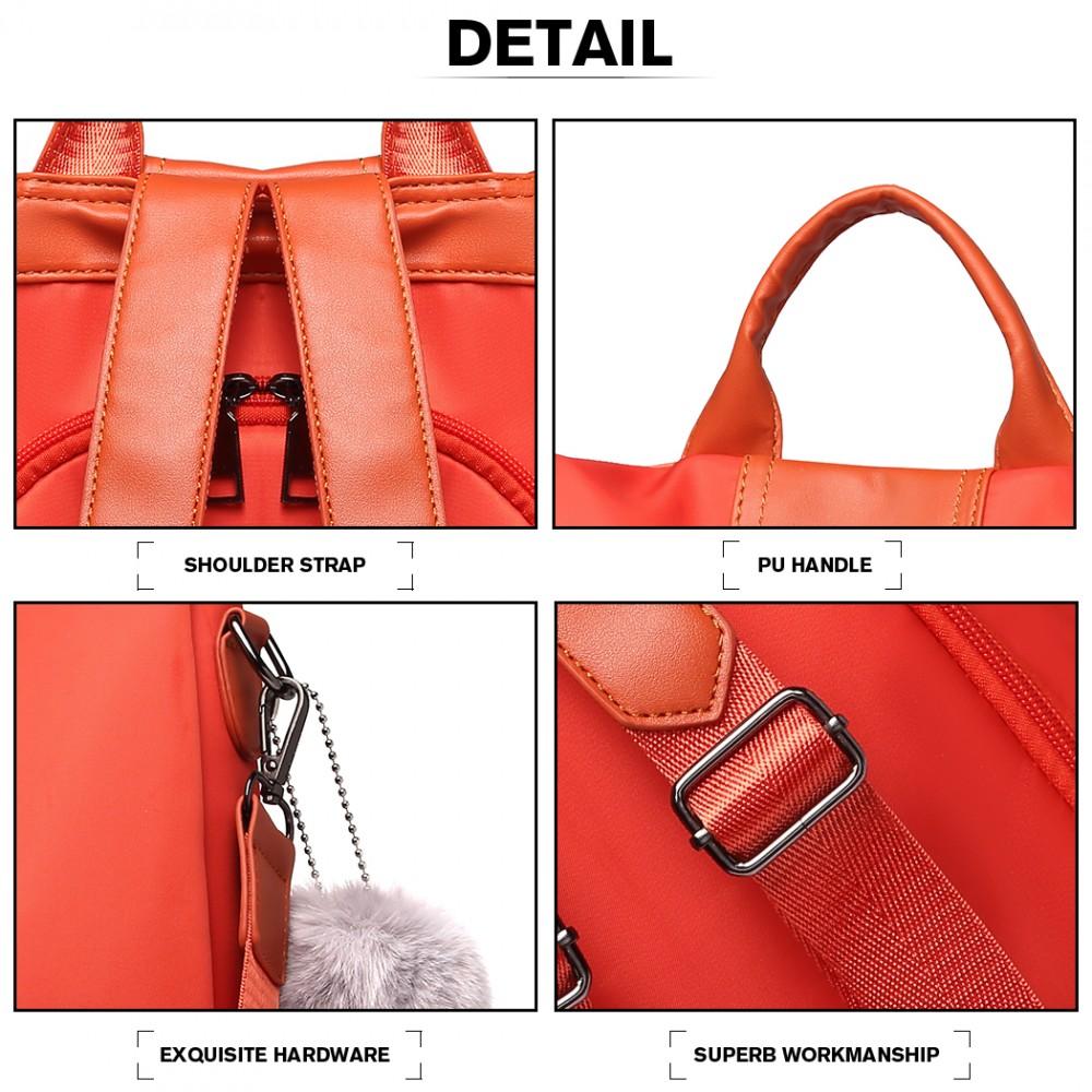 Oranžový dámsky batoh / kabelka cez rameno Miss Lulu