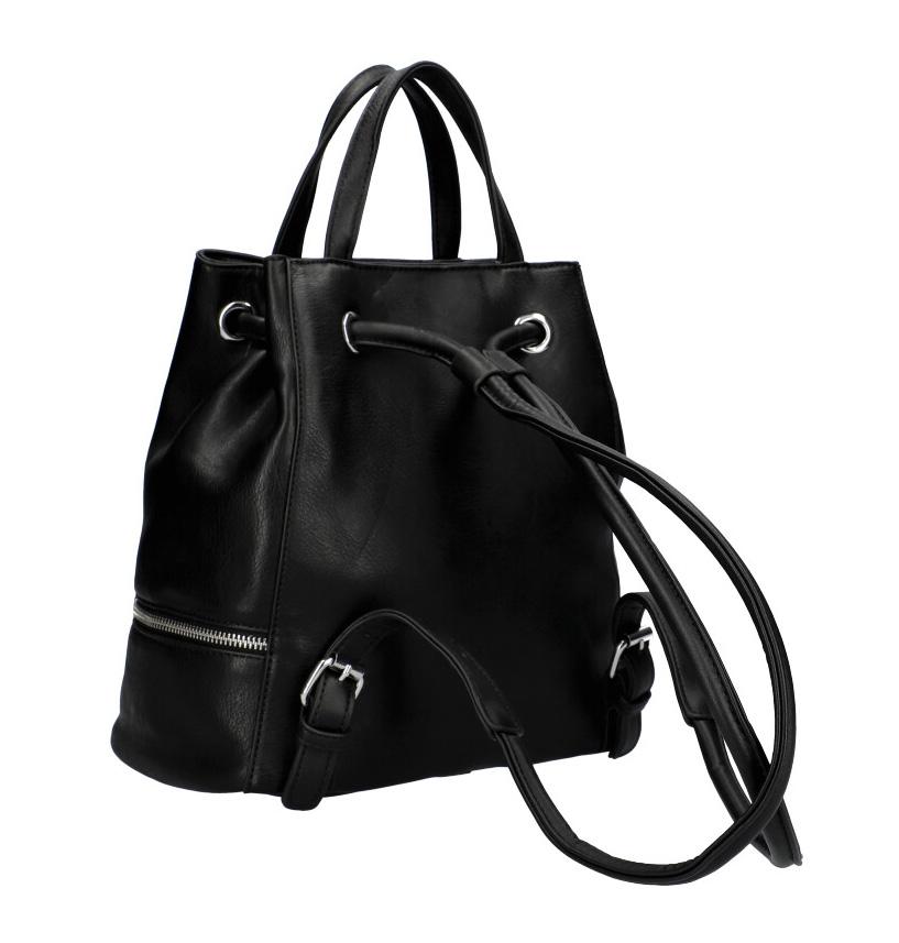 Černý dámský batůžek do ruky i na záda KR827