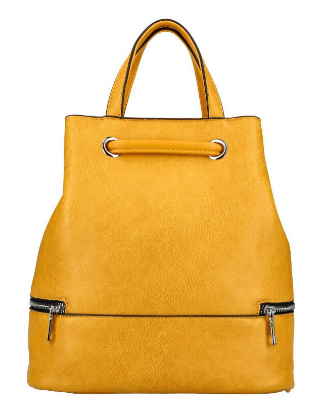 Žltý dámsky batôžtek do ruky aj na chrbát KR827