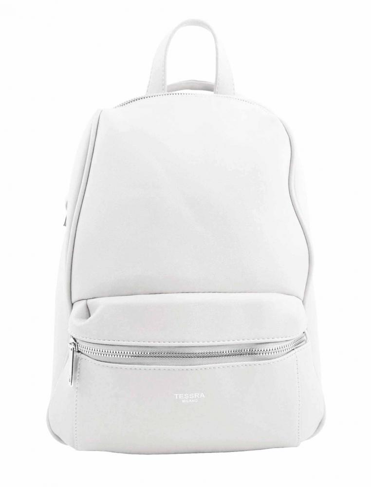 TESSRA MILANO Elegantný biely dámsky ruksak / kabelka 4944-TS