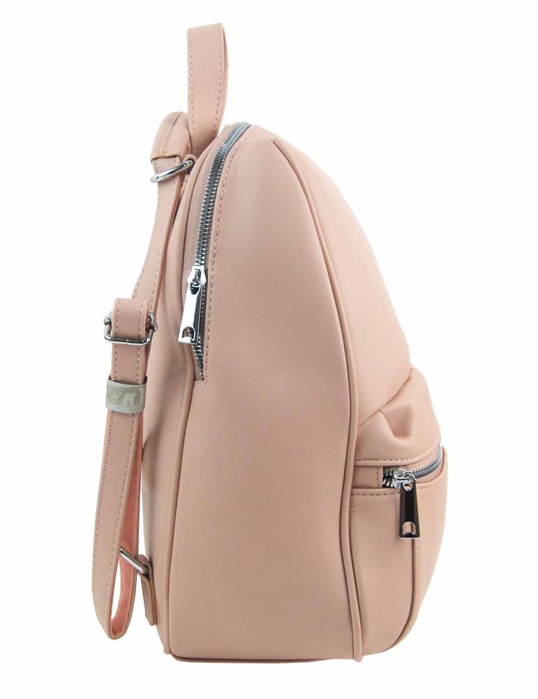 TESSRA MILANO Elegantní žlutý dámský batoh / kabelka 4944-TS