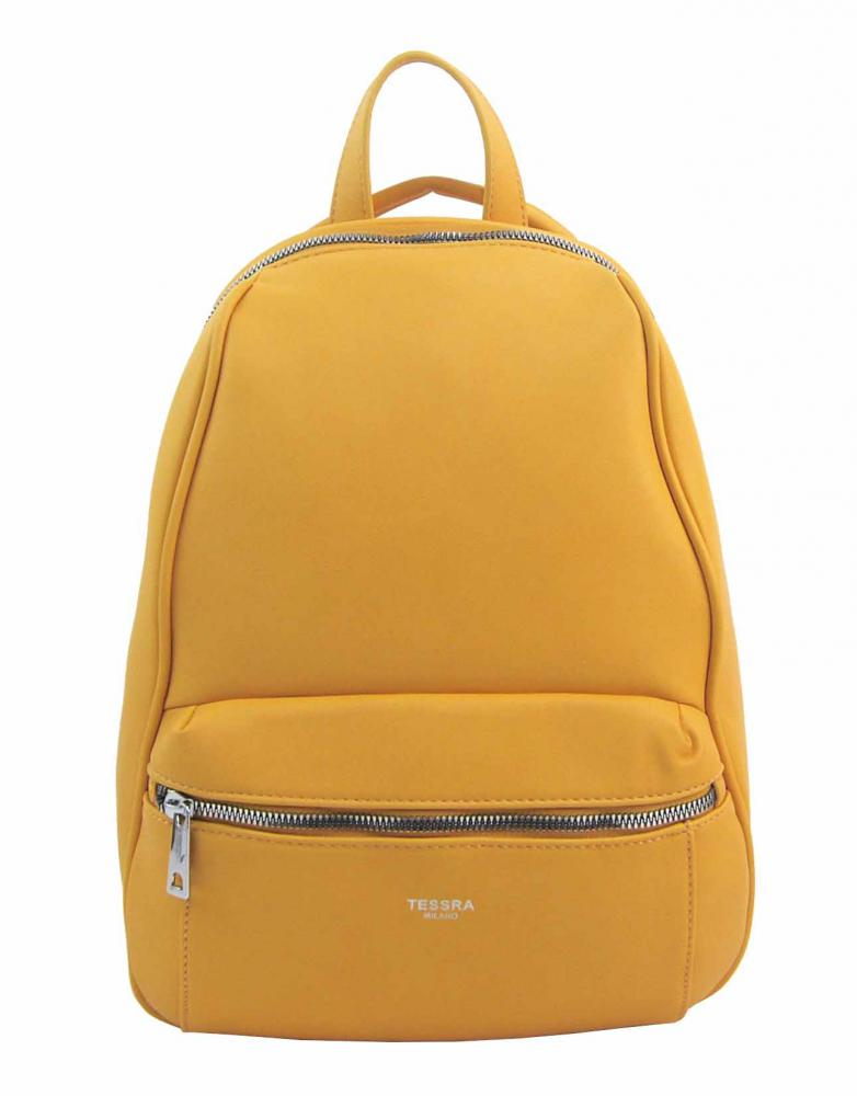TESSRA MILANO Elegantný žltý dámsky ruksak / kabelka 4944-TS