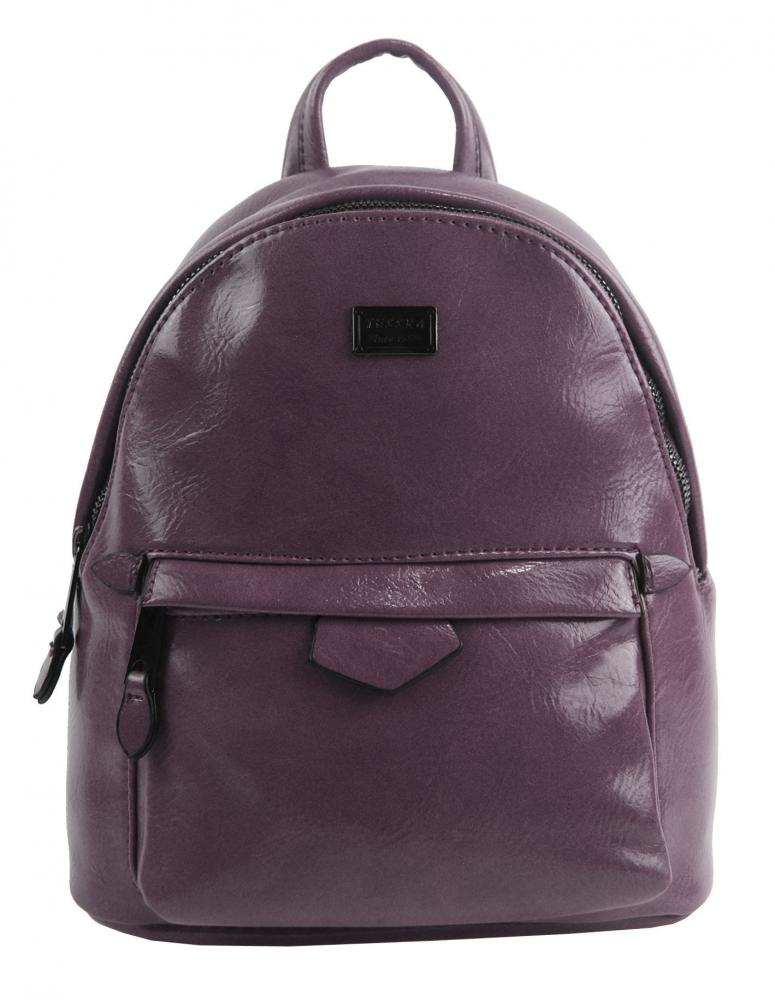 Malý purpurový lesklý dámský batůžek / kabelka 4827-TS