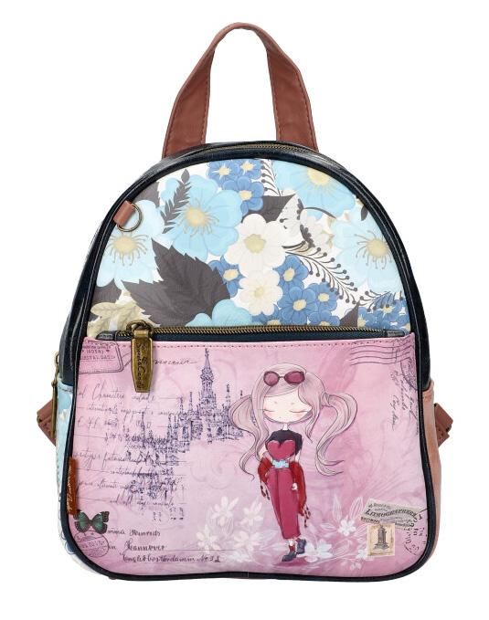 Sweet & Candy Dámský barevný batůžek s potiskem B