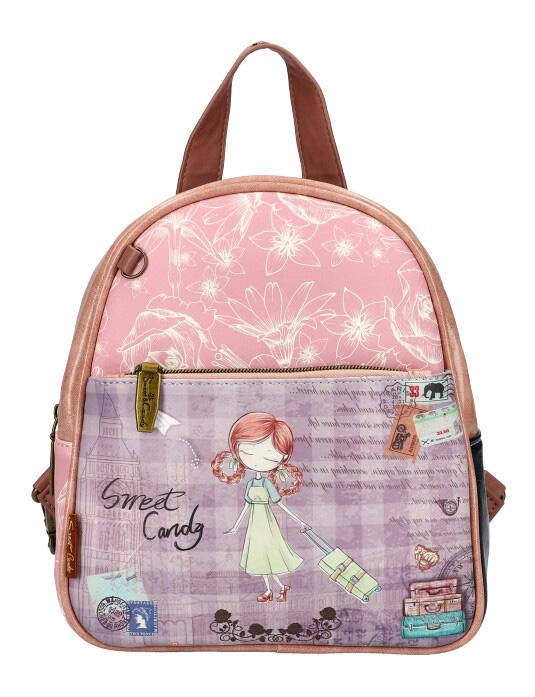 Sweet & Candy Dámský barevný batůžek s potiskem C