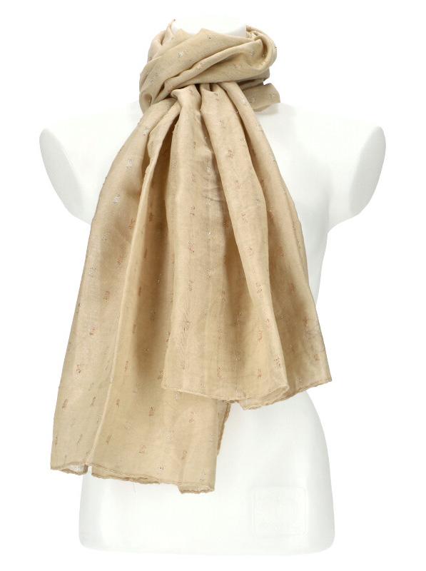 Dámský letní jednobarevný šátek / šála 180x90 cm béžová