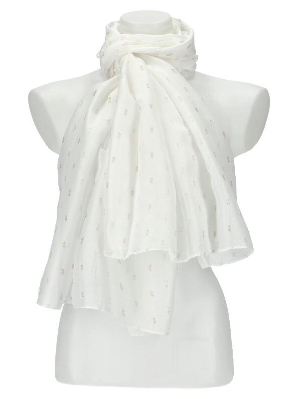 Dámský letní jednobarevný šátek / šála 180x90 cm bílá