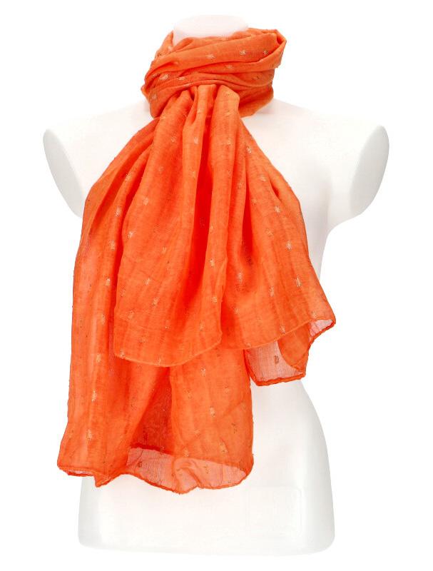 Dámský letní jednobarevný šátek / šála 180x90 cm oranžová