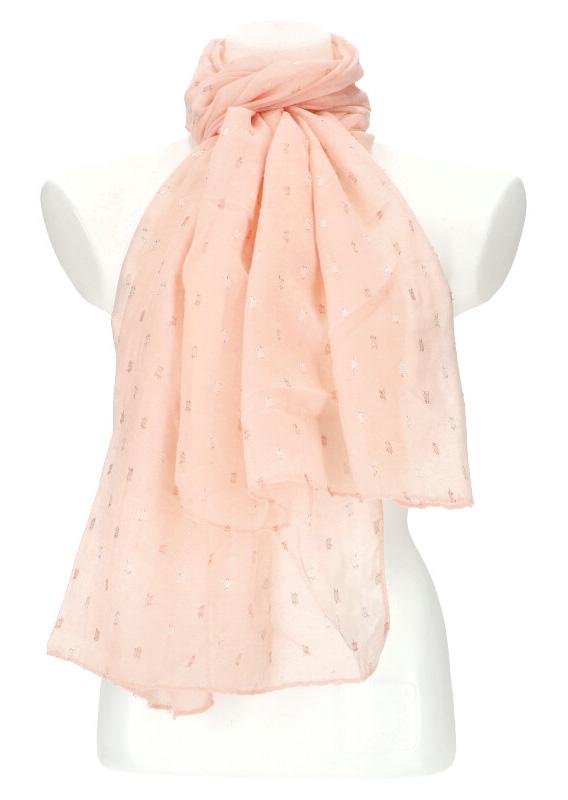 Dámský letní jednobarevný šátek / šála 180x90 cm růžová