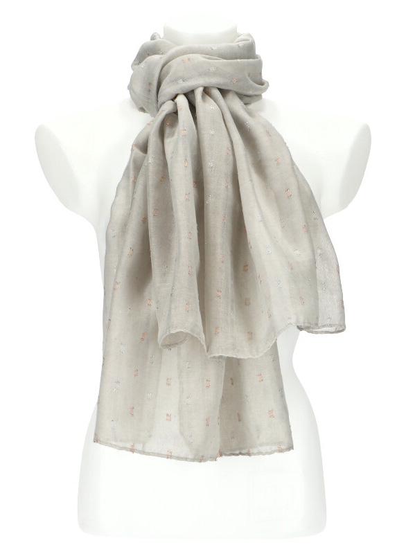 Dámský letní jednobarevný šátek / šála 180x90 cm šedá