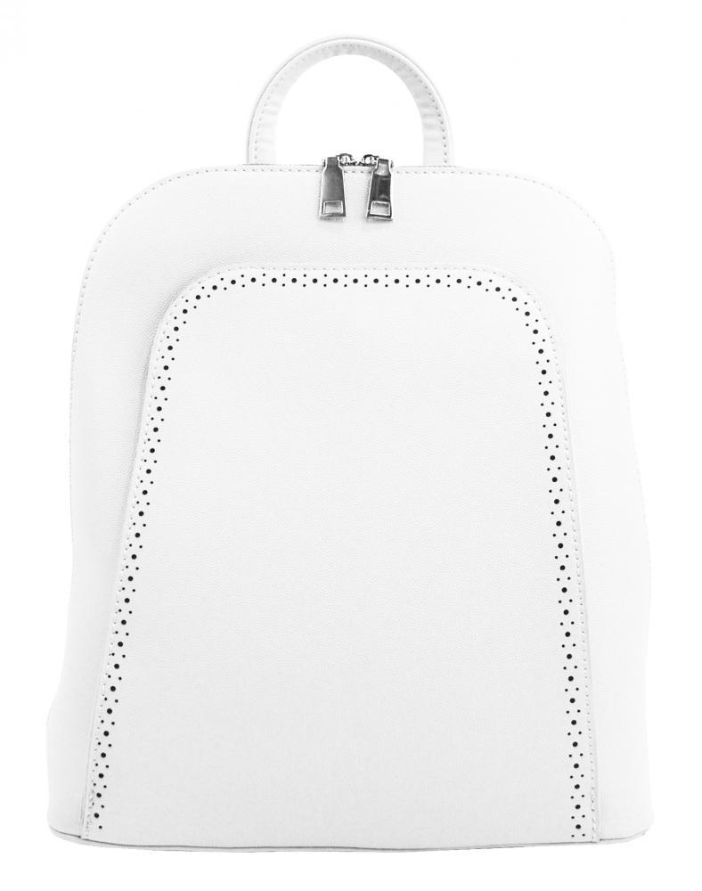 Elegantný biely dámsky ruksak 5301-BB