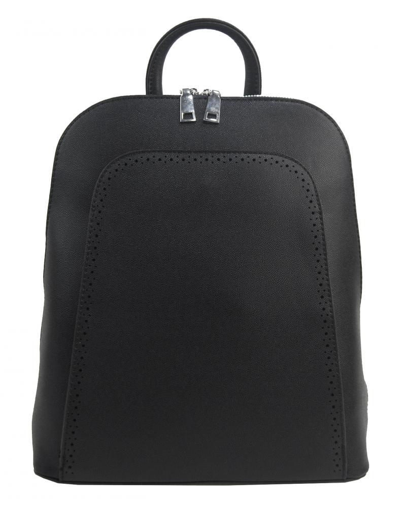 Elegantný čierny dámsky ruksak 5301-BB
