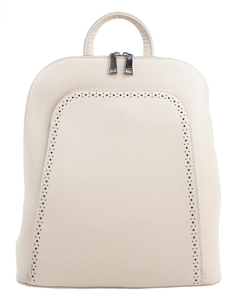 Elegantný krémový dámsky ruksak 5301-BB