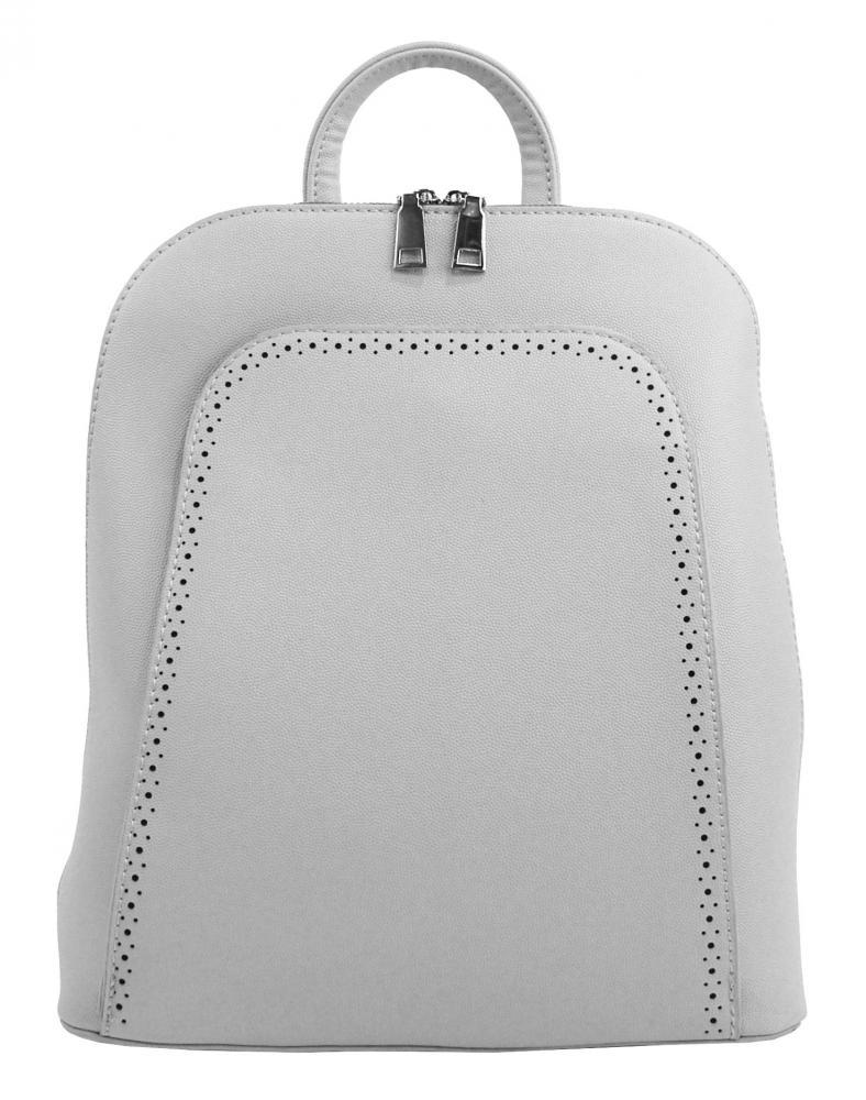 Elegantný svetlo šedý dámsky ruksak 5301-BB