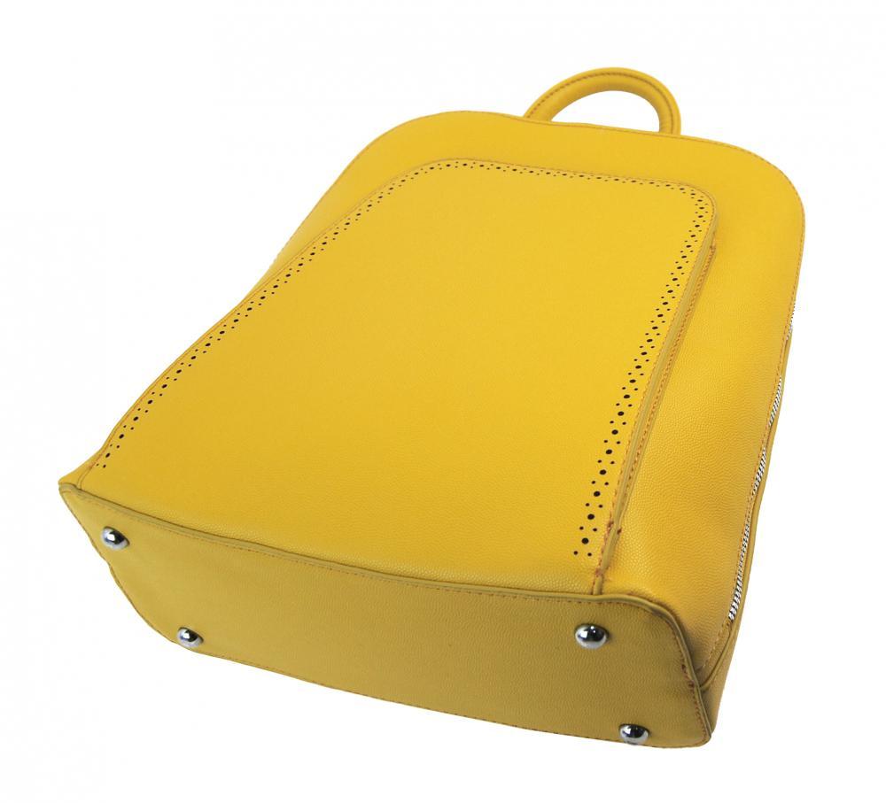 Elegantný žltý dámsky ruksak 5301-BB