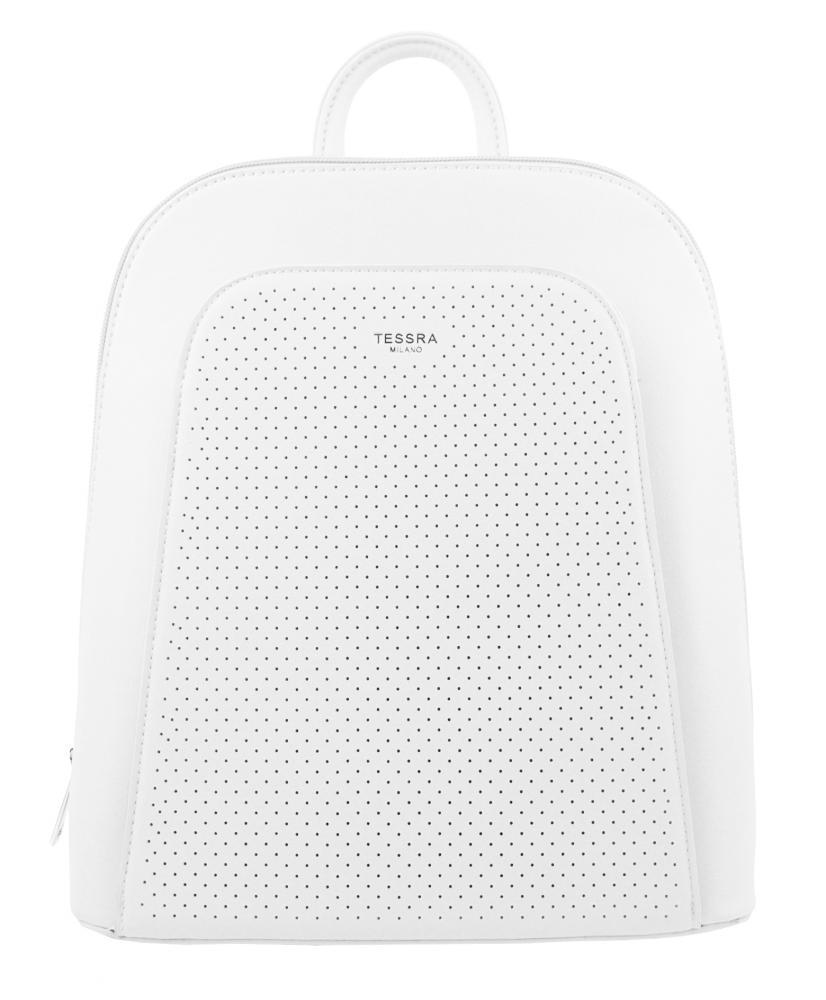 Elegantný biely dámsky batoh 5306-TS