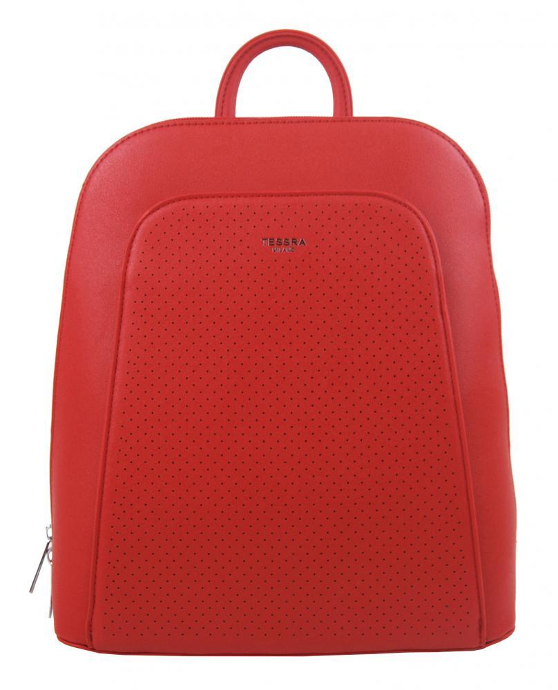 Elegantný červený dámsky batoh 5306-TS
