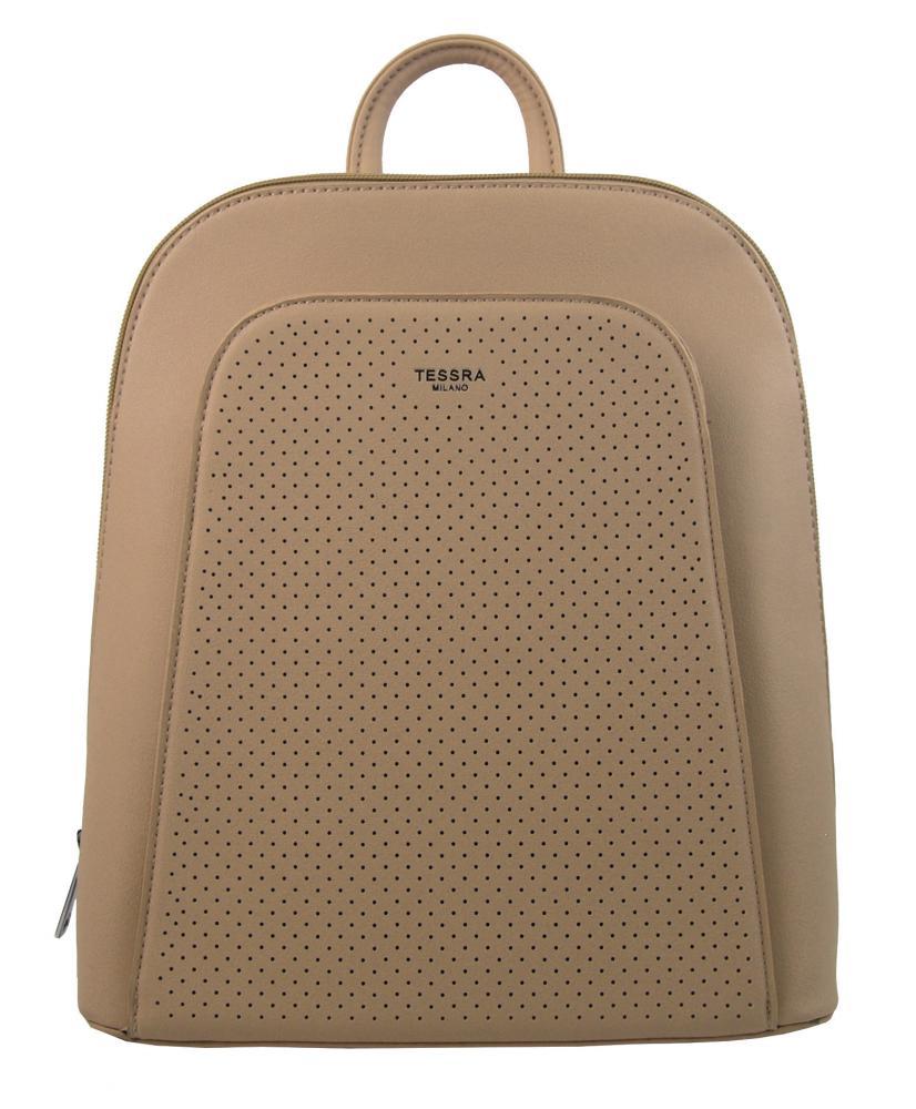 Elegantný marhuľovo hnedý dámsky batoh 5306-TS