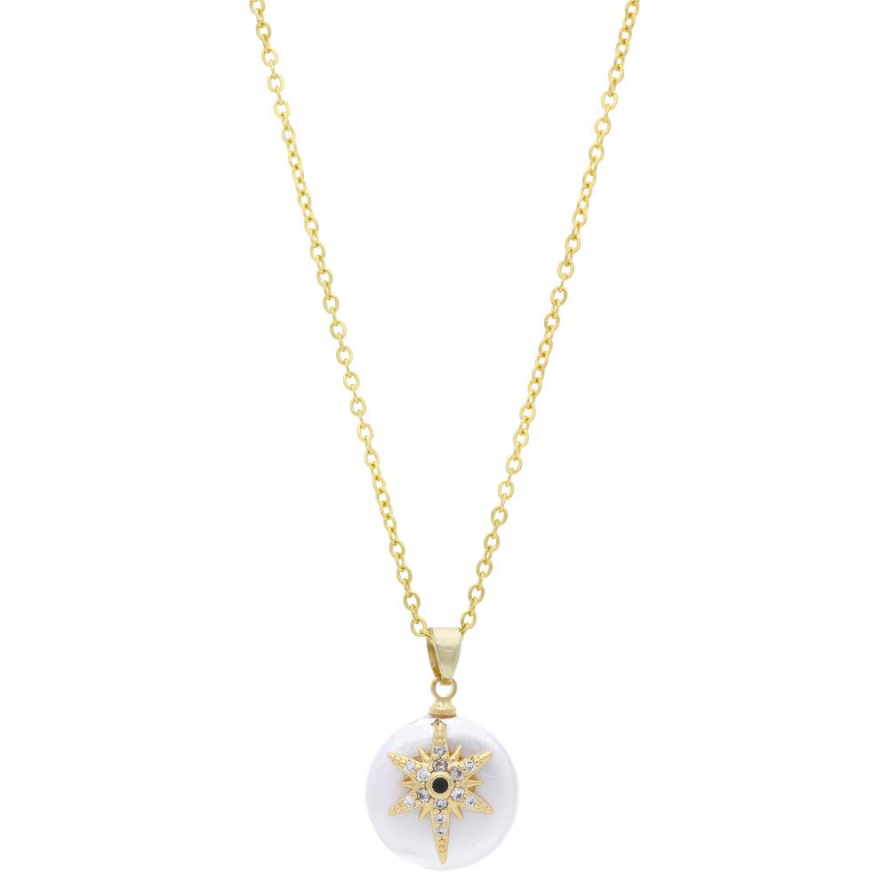 Zlatý dámský náhrdelník s hvězdičkou MV170049