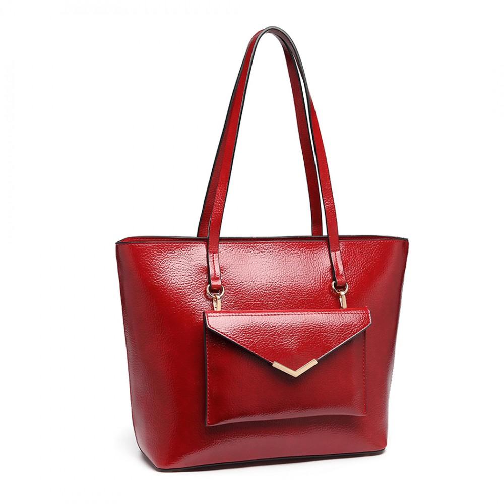 Dámská dvoudílná kabelková sada 2v1 Miss Lulu vínová červená