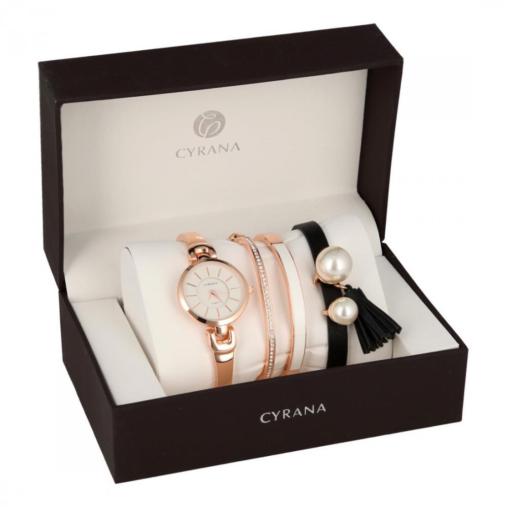 CYRANA dámska darčeková sada hodiniek s náramky GV19033-M2