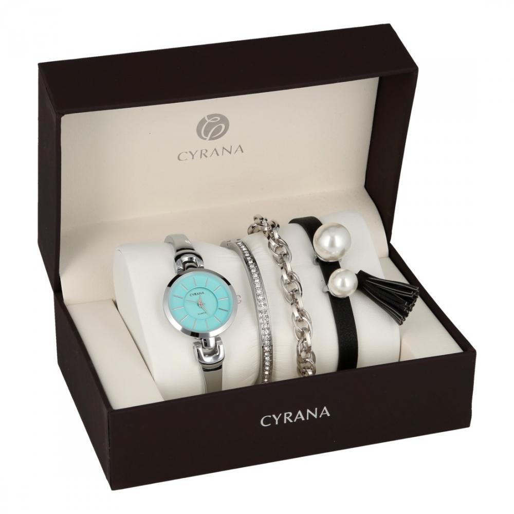 CYRANA dámska darčeková sada hodiniek s náramky GV19033-M4