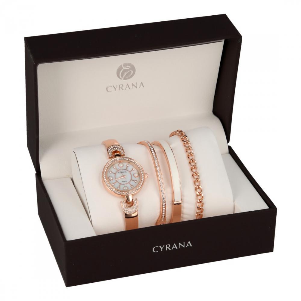 CYRANA dámská dárková sada hodinek s náramky GV19034-M1