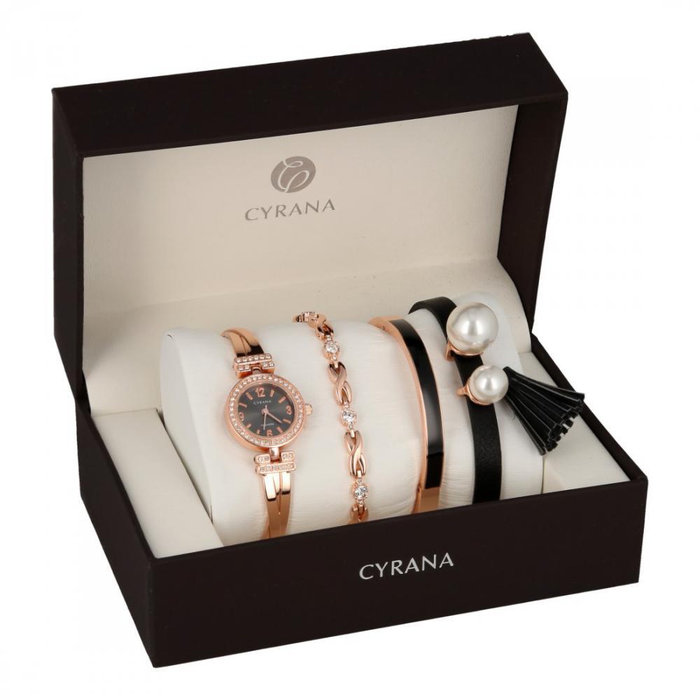 CYRANA dámská dárková sada hodinek s náramky GV19035-M1