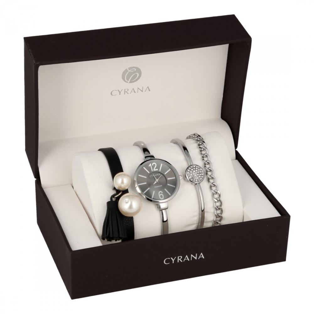 CYRANA dámska darčeková sada hodiniek s náramky GV19036-M1
