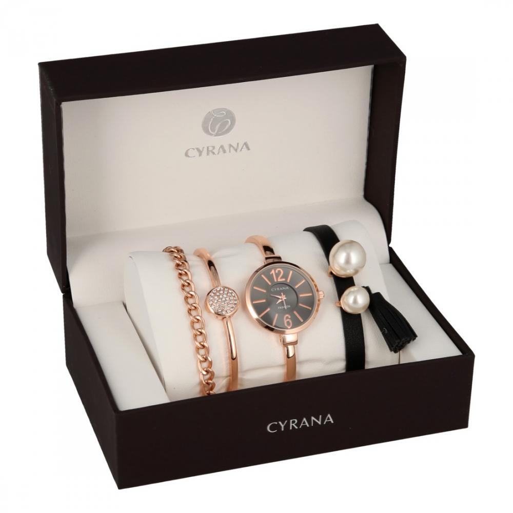CYRANA dámská dárková sada hodinek s náramky GV19036-M2