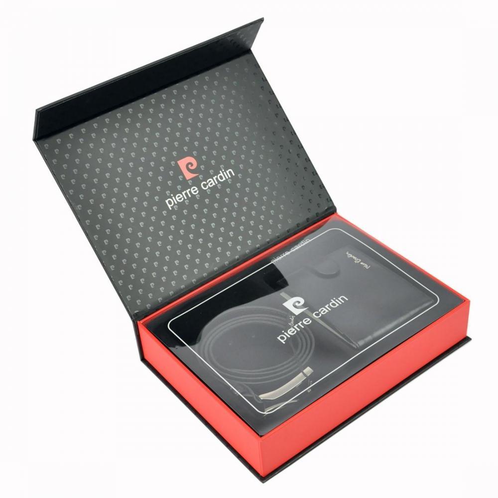Pierre Cardin Darčeková pánska luxusná sada kožený opasok a peňaženka