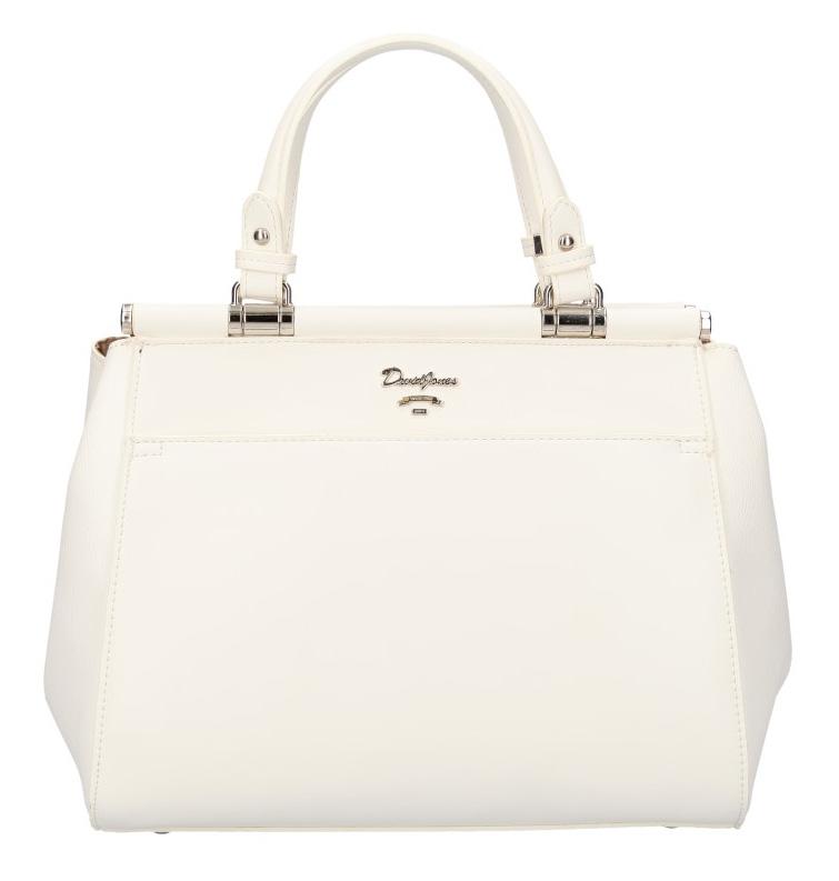 Bílá moderní dámská kabelka David Jones 5954-3