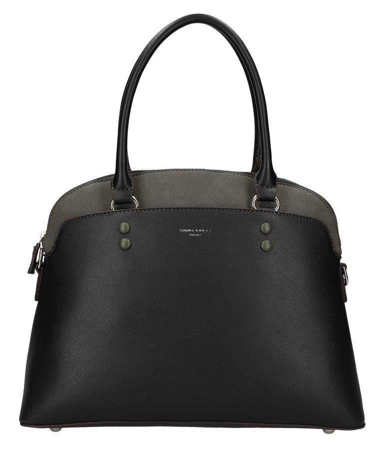 Černá moderní dámská kabelka David Jones 6127-1