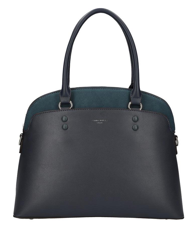 Modrá moderná dámska kabelka David Jones 6127-1