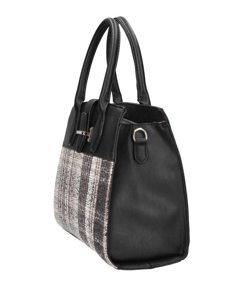 Čierna moderná dámska kabelka David Jones CM4053